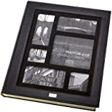 Kleer-vu Photo Album Suedeleather Collection, Holds 500 4x6 Inches Photos, 5 Per Page - Black