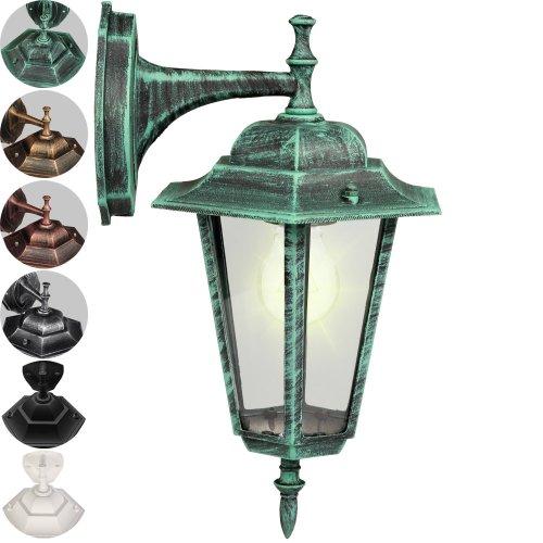 prix lanterne murale exterieure vert applique murale de jardin 36 x 20 cm hx la. Black Bedroom Furniture Sets. Home Design Ideas
