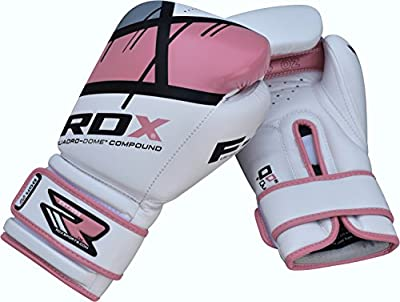 Authentic RDX Ladies Leather Gel Boxing Gloves Women Fight Punch Bag MMA Muay thai from RDX