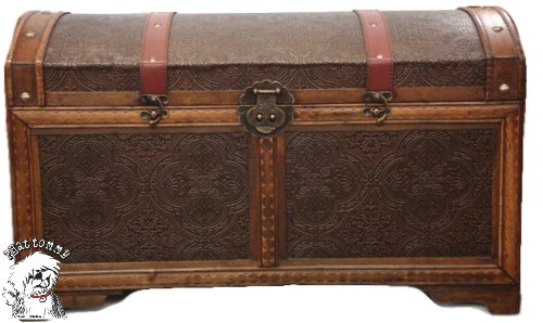 Phat Tommy Decorative Storage Steamer Trunk Chest Wood Vinatge Style Antique Decor Box
