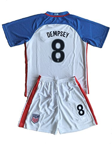 2016/17 USA Home Dempsey #8 Kids Soccer Jerseys Uniform (7-8 Year Old) (Kids American Football Jerseys compare prices)