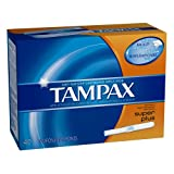 Tampax Cardboard Applicator, Super Plus Absorbency Tampons 40 Count (Pack of 2)