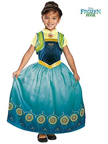 Anna Frozen Fever Toddler Girls Deluxe Costume