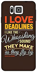 The Racoon Lean Deadlines hard plastic printed back case for Samsung Galaxy Alpha