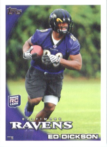 2010 Topps Nfl Football Card # 57 Ed Dickson Rc Baltimore Ravens ( Rookie Card) Nfl Trading Card In A Protective Screwdown Case