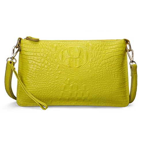 [Fleeting Time Women's Thin Fashion Crocodile Leather Shoulder Messenger Bag(C3)] (Ny Costumes Rental)