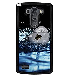 Fuson Premium Fish In Bulb Metal Printed with Hard Plastic Back Case Cover for LG G3