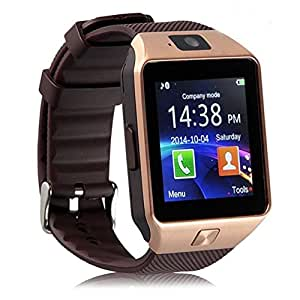 Bluetooth Smart Watch DZ09 Phone With Camera and Sim Card & SD Card Support With Apps like Facebook and WhatsApp Touch Screen Multilanguage Android/IOS Mobile Phone Wrist Watch Phone with activity trackers and fitness band Fit features compatible with SAMSUNG Galaxy Pop Plus