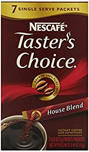 Nescafe Taster's Choice House Blend Instant Coffee, 7-Count Single Serve Sticks (Pack of 12)