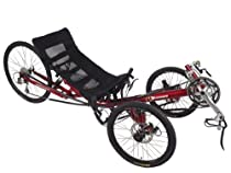Performer Trike-X 27 Speed Recumbent Trike (Mesh LX 27S) (Red)