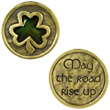 "Grasslands Road Celebrating Heritage Celtic Shamrock  Pocket Coin ""May the Road Rise Up"""