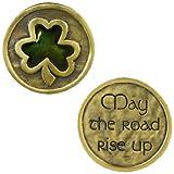"""Grasslands Road Celebrating Heritage Celtic Shamrock  Pocket Coin """"May the Road Rise Up"""""""