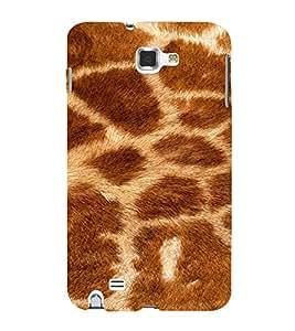 PrintVisa Giraffe Animal Print Pattern 3D Hard Polycarbonate Designer Back Case Cover for Samsung Galaxy Note 1