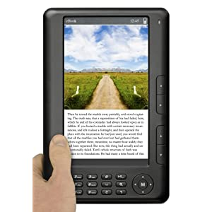 Ematic 7-Inch TFT Color eBook Reader with Built-in 4 GB Flash, Video Playback and Music Playback (EB101B)