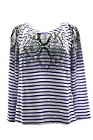 Tracy Reese Cut-Out Pullover Top in Python Into Stripe