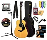 Yamaha FG700S Acoustic Guitar BUNDLE including Hard Case, Strap, Stand, Polish, Tuner, Strings, Picks, Capo, Stringwinder and DVD