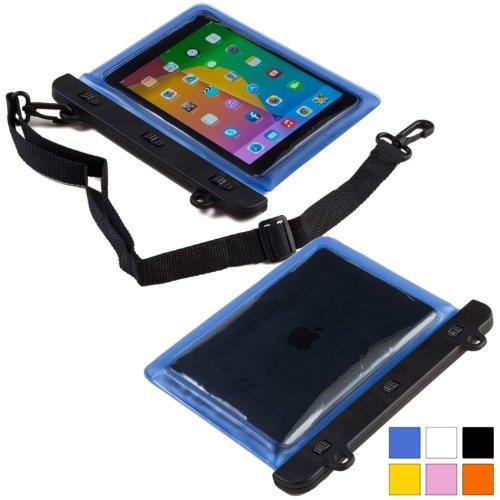 Cooper Cases(TM) Voda Prestigio MultiPad 8.0 Pro Duo / Thunder 7.0i Wasserdichte Tablethülle in Blau (Leicht, berührungsempfindliches Sichtfenster, verstellbarer Schultergurt)