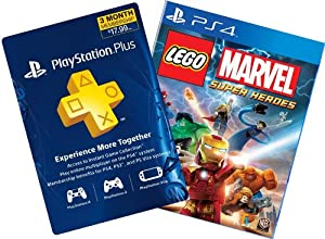 Lego Marvel Super Heroes Digital Bundle: Game + 3-Month PS Plus - PS4 [Digital Code]