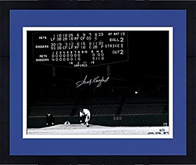 "Framed Sandy Koufax Los Angeles Dodgers Autographed 16"" x 20"" No Hitter Scoreboard Photograph - Fanatics Authentic Certified"