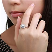 buy Sankuwen Shinning Big Square Zircon Finger Ring