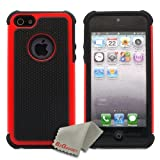 BZ Gadget Shock Proof Case Cover for Apple iPhone 5 (Black/Red) + BZ Gadget Cleaning Cloth