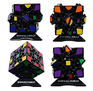 MOFANG FAMILY Set of 3 Speed Cube Pyraminx Megaminx 3D GEAR MAGIC Cube Puzzle Brainteaser Cube