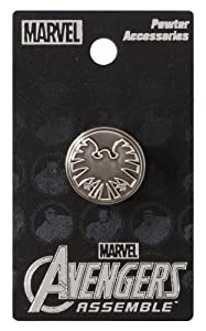 Marvel Avengers Shield Eagle Logo Lapel Pin