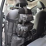 OneTigris 車シートカバー ミリタリー 車載用シートバックポケット付き キック対策 ベルクロ(ブラック)