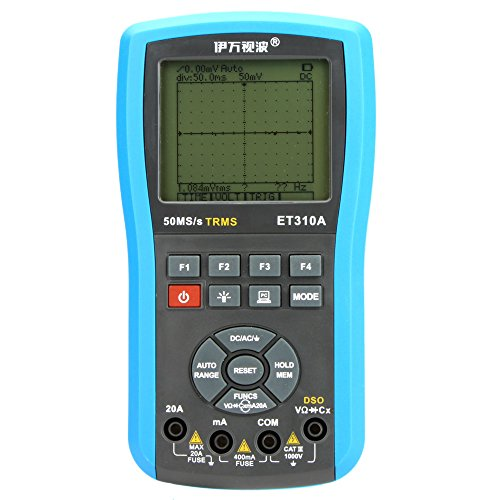 Kkmoon Et310A 2 In 1 Handheld 10Mhz 50Ms/S Dso Digital Storage Oscilloscope & True Rms Auto Ranging Dmm Multimeter