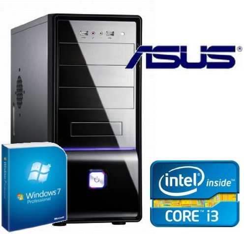 Tronics24 Istarter PC Intel Core i3-2120 (Dualcore) Sandy Bridge 2 x 3.3 GHz, 4 GB DDR3, Asus, 500 GB Sata3 , Intel HD2000, Microsoft Windows 7 Professional, DVD-Brenner, Sound, GigabitLan, Cardreader, Office PC