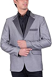 Hexamex Mens Blazer (Hexa-C34_Grey_L)