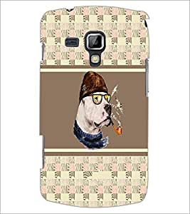 PrintDhaba Smoking Dog D-3836 Back Case Cover for SAMSUNG GALAXY S DUOS S7562 (Multi-Coloured)