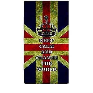 Skin4gadgets Keep Calm and CHANGE THE WORLD - Colour - UK Flag Phone Skin for NOKIA LUMIA 920