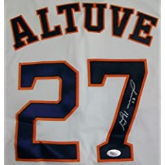 Jose Altuve Home Authentic (Astros) Autographed Hand Signed Jersey (MLB...