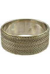 Silver Tone Link Chain Bangle Bracelet