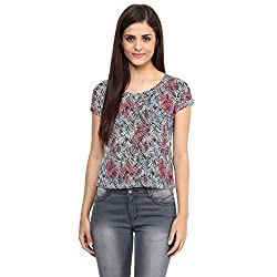 Candies by Pantaloons Women's Other T-Shirt (205000005542483_Pink_XL)