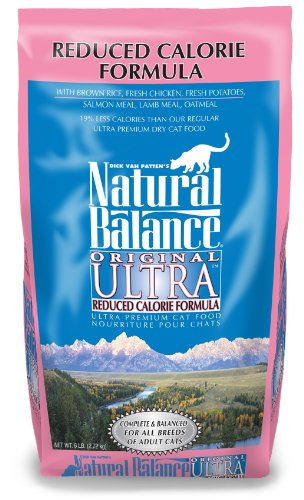 Natural Balance Original Ultra Reduced Calorie Cat Food, 6-Pound Bag