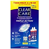 Clear Care 3% Hydrogen peroxide Triple Action Cleaning Triple Action 2x16oz + 3oz Travel Size by American Health & Wellness