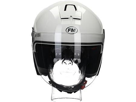 Fm rS41040XXL casque jet à visière taille xXL (blanc)