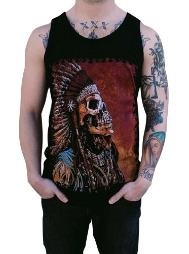 Mens Spirit Of A Nation By David Lozeau Native American Indian Tank Top T-Shirt