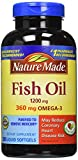 Pack of 2 Nature Made Fish Oil 1200 Mg (360 Mg Omega-3) 200 Liquid Softgels