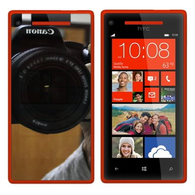 Coveron® Mirror Transparent Lcd Screen Protector Shield For Htc 6990 Windows Phone 8X / Zenith / One Att/ Tmobile [Wcg1154]
