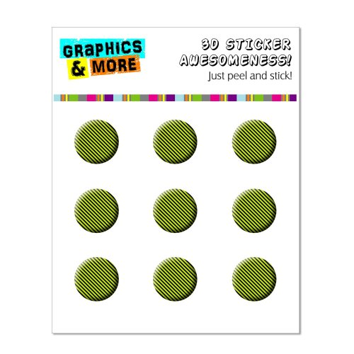 Graphics and More Urban Stripes Black Green Home Button Stickers Fits Apple iPhone 4/4S/5/5C/5S, iPad, iPod Touch - Non-Retail Packaging - Clear