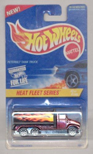 Hot Wheels 1996-539 Heat Fleet Series 3/4 Peterbilt Tank Truck 1:64 Scale - 1