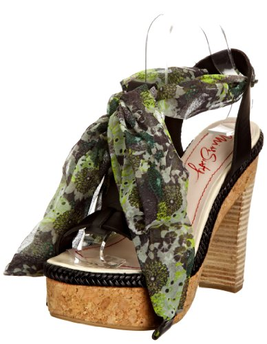 Miss Sixty Women's Georgia Black/Green Platforms