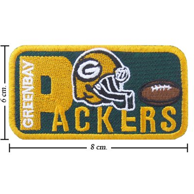 Green Bay Packers Style-2 Embroidered Iron On Patch at Amazon.com