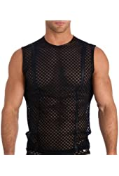 Mens Sexy Black Afterhour Muscle Shirt Fashion Tank Top by Gregg Homme Size X-Large