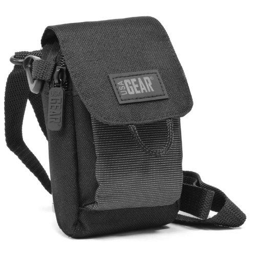 USA Gear S2 custodia antipioggia per fotocamera digitale compatta con strap da spalla e tasca per accessori - Funziona con Panasonic Lumix DMC-SZ3EB-K Compact , Nikon Coolpix L29 , Sony RX100 e altre!