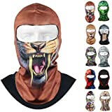 Voberry ® Best Seller Fantastic Thin 3D Outdoor Cycling Ski Balaclava Neck Hood Full Face Mask Hat Beanie Animal