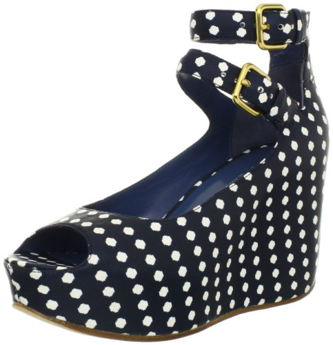 Marc By Marc Jacobs Women'S Concealed High Wedge Sandal,Estate Blue Multi,39 Eu/9 M Us
